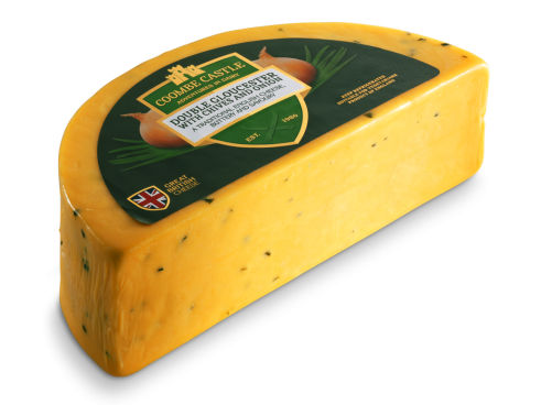USA UK Coombe Castle International Savoury Blends Double Gloucester Chive & Onion