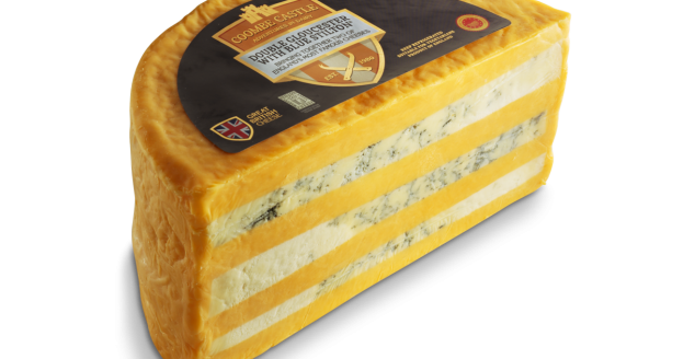 USA UK Coombe Castle International Savoury Blends Double Gloucester with Blue Stilton