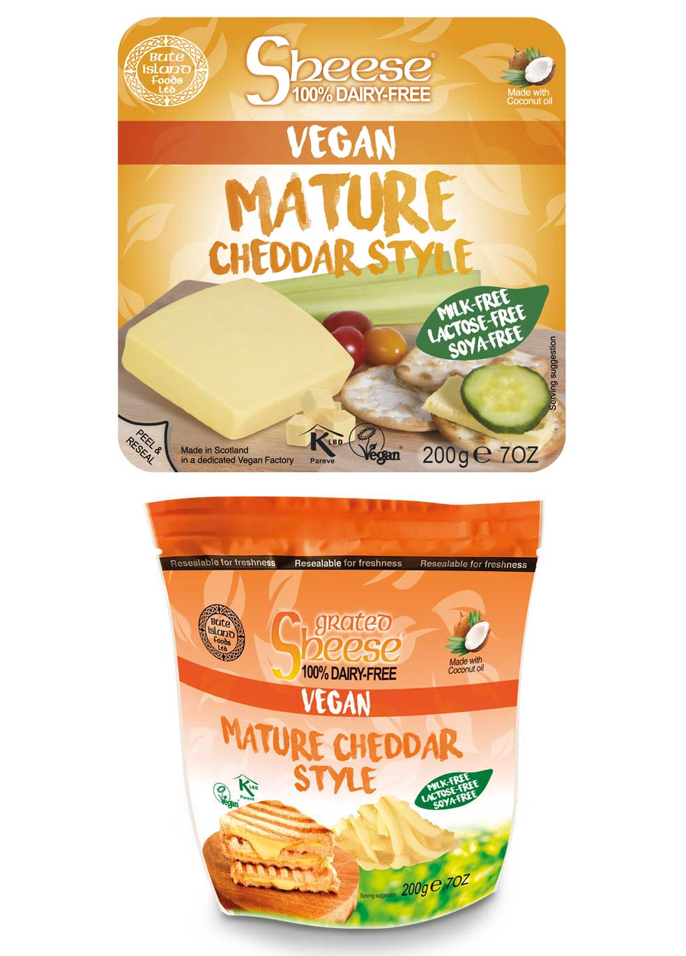 Sheese mature cheddar style