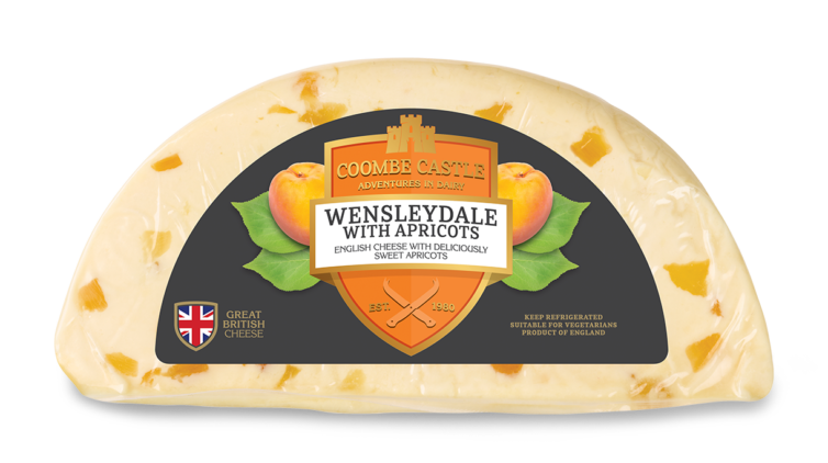 USA UK Coombe Castle International Sweet Blends Wensleydale with Apricots