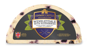 USA UK Coombe Castle International Sweet Blends Wensleydale with Blueberries