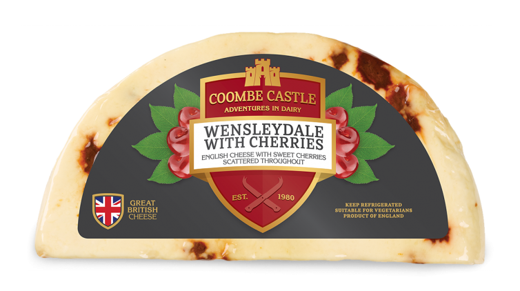 USA UK Coombe Castle International Sweet Blends Wensleydale with Cherries