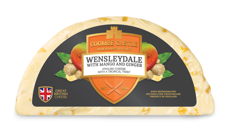 USA UK Coombe Castle International Sweet Blends Wensleydale with Mango & Ginger