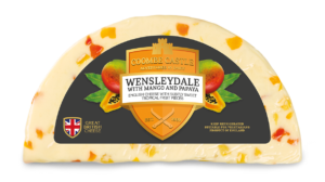 USA UK Coombe Castle International Sweet Blends Wensleydale with Mango & Papaya