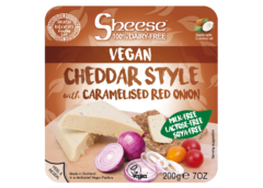 Sheese Vegan Mild Cheddar Style with Caramelised Red Opnion