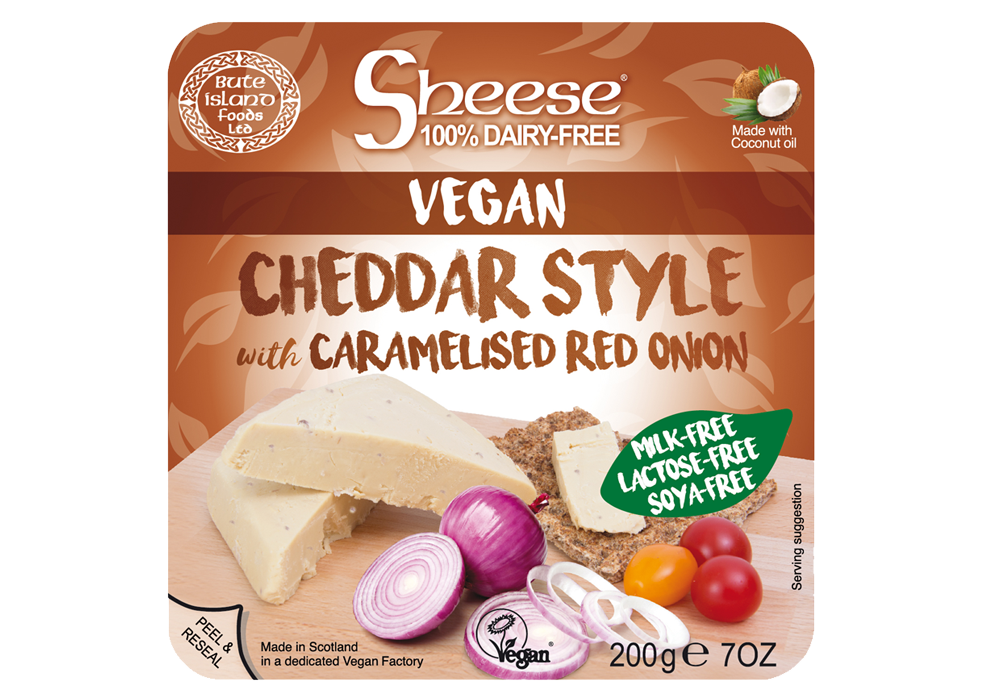 Sheese Vegan Cheddar Style with Caramelised Red Onion