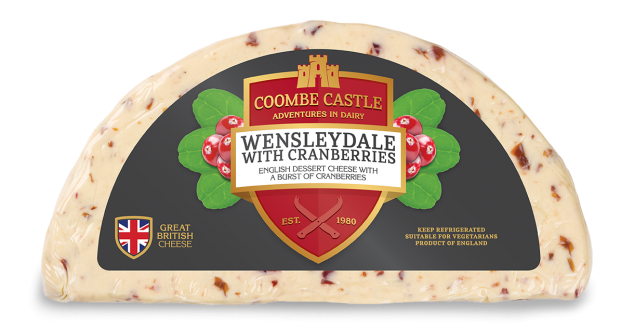USA UK Coombe Castle International Sweet Blends Wensleydale with Cranberries